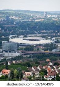 Stuttgart/Germany - July 14 2016: View of the Mercedes-Benz Arena. This is a stadium located in Stuttgart, Baden-Württemberg, Germany and home to German Bundesliga club VfB Stuttgart.