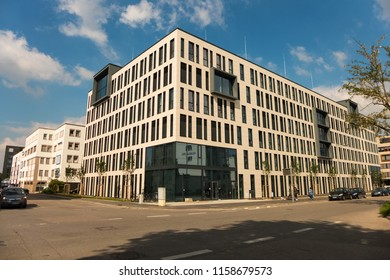 STUTTGART,GERMANY - MAY 23,2018: Daimler Fleetboard This company is in Industriestrasse in Vaihingen.The building is new and was finished in 2017.