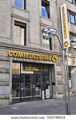 STUTTGARTGERMANYAUG 11 Commerzbank On August 112016 Stock Photo (Edit Now)  500748016 - Shutterstock 27c0de5b7