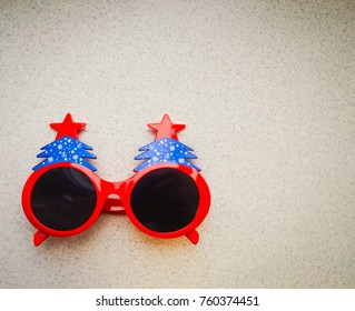 style Background glasses for celebrating the New Year holiday