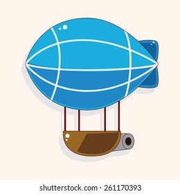 style hot air balloon theme elements