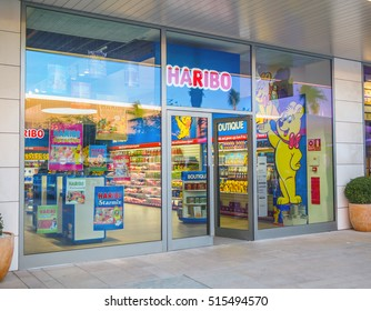 The Style Outlets , Viladecans , Barcelona - November 2016 : Haribo store in shopping mall