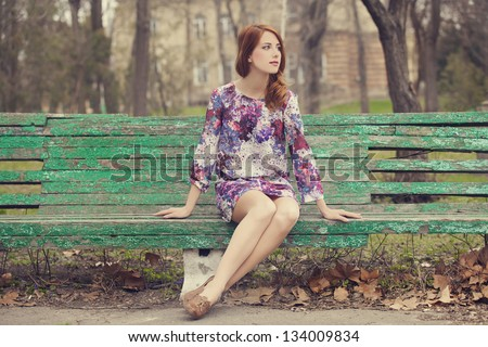 Redhead on bench are not