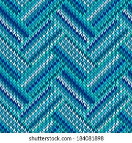 Style Seamless Blue White Color Knitted Pattern from my large Collection of Samples of knitted Fabrics