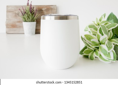 "Styled Stock Photography ""Wine On"", Mockup-Digital File, White Wine Tumbler 12oz Mock Up"