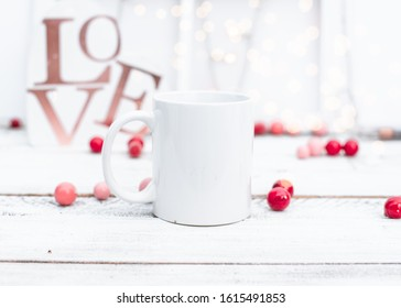 Styled Valentines Day Mug Stock Photo