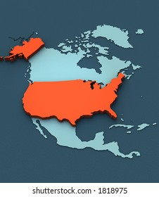 A stylish 3D map of the USA