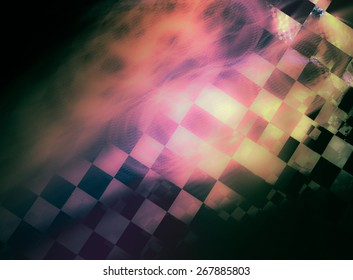 """Stylish abstract background with iridescent highlights, topics close to racing and speed. Grungy texture, is """"dirty"""" and some """"graininess"""""""
