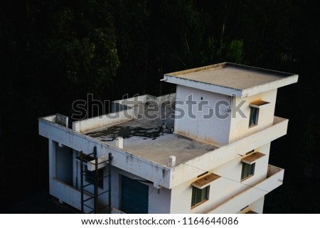 Stylish architectural house of an urban area in Bangalore India unique photo
