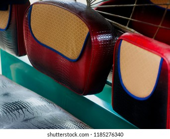 Stylish artificial leather made seat covers of a CNG vehicle unique photo