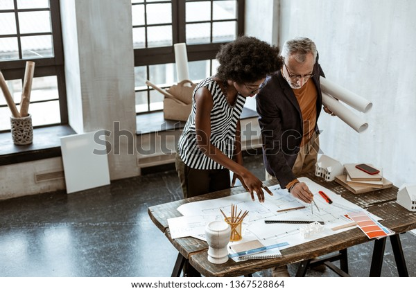 Stylish Assistant Africanamerican Stylish Assistant Interior Stock Photo Edit Now 1367528864
