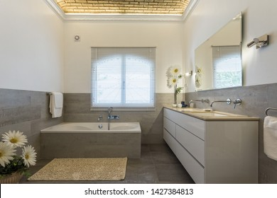 Stylish bath shower rooms in contemporary decor.