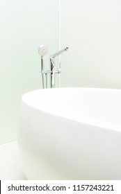 stylish bath tub and faucet