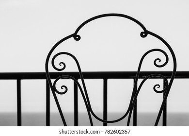Stylish beautiful silhouette of chairs on the background of nature