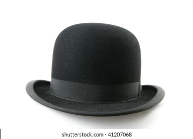 64eccb314ab2a A stylish black bowler hat - isolated on white background