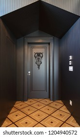 Stylish Black Door Design at the Hall