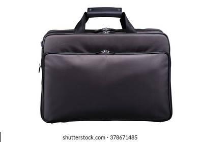 Stylish Black Leather Briefcase for Notebook & Accessories