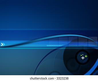 Stylish blue gradient background with different elements.