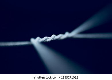 Stylish blurry nylon ropes isolated unique pattern background photo