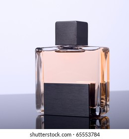 Stylish bottle of French perfume