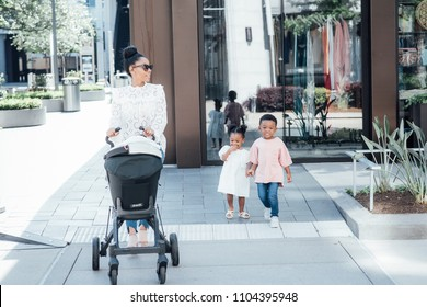 Stylish Family Shopping