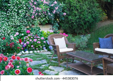 Stylish garden in the park