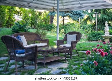 Stylish garden in the park
