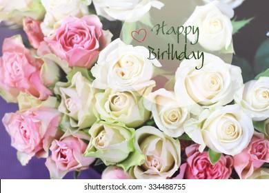 Stylish Gentle Romantic Happy Birthday Card For Woman Girl Friend Sister