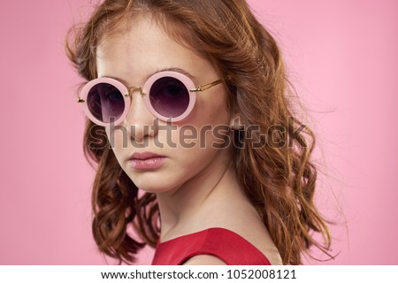0444aa0f5fd4 ... Stock Photo (Edit Now) 1052008121 - Shutterstock. stylish girl in pink  glasses