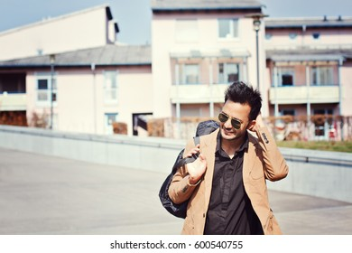 Stylish indian man outdoor