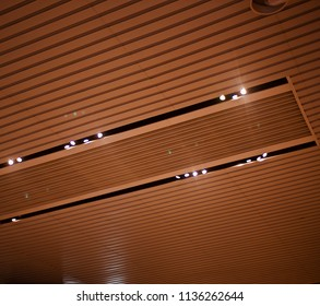 Stylish interior ceiling design with lights isolated unique photograph