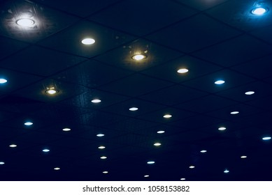 Stylish interior ceiling lights isolated unique stock photograph