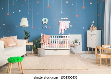 Stylish interior of children's room