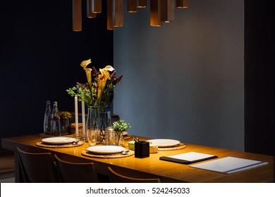 Stylish interior of dining room