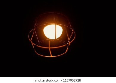 Stylish interior lights with metallic light shade isolated unique photograph