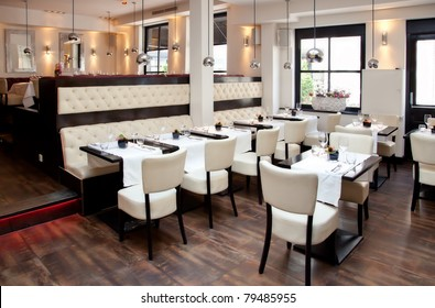 stilvolles Interieur des Restaurants