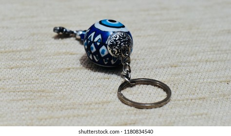 Stylish key rings isolated object unique photograph