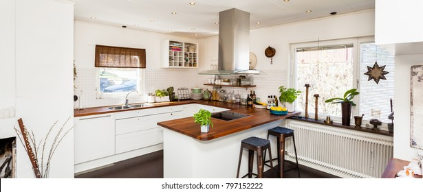 stylish kitchen interior banner