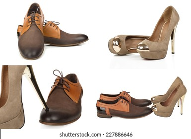 stylish male and female shoes