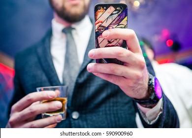 Stylish man at a party