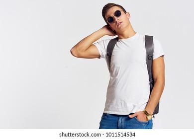 stylish man in sunglasses