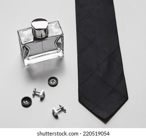 Stylish mens business accessories tie cologne cuff links