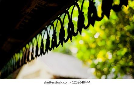 Stylish metallic design of a ceiling unique photo