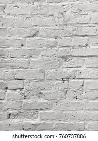 Stylish Naturally Lit Hipster White Painted Brick Wall Background