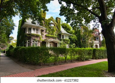 Stylish neighborhood depicting executive style houses and well maintained landscapes.