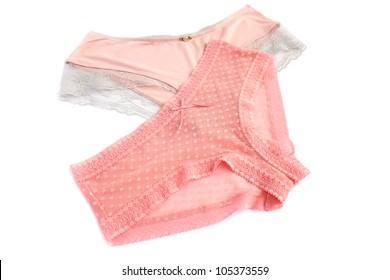 Stylish panties isolated on white background.