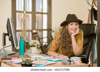 Stylish professional woman in her office