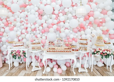 Stylish restaurant design and balloon décor for celebrations