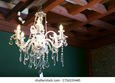 Stylish and retro design glass chandelier