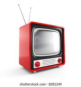 Stylish retro TV. More TV in my portfolio